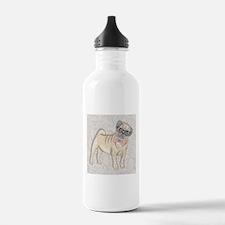 Hipster Pug Water Bottle