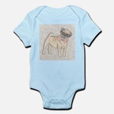 Hipster Pug Body Suit