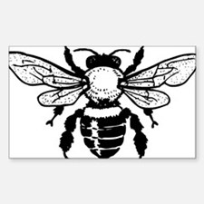 Beautiful Honey Bee Silhouette Decal