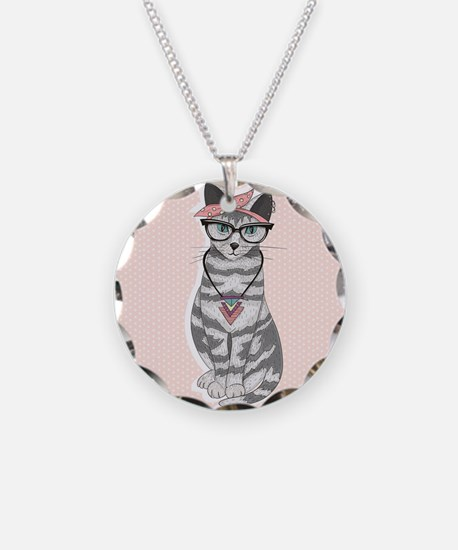 Hipster Cat Necklace