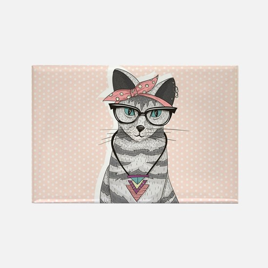 Hipster Cat Magnets