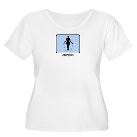 Jump Rope (BLUE) Women's Plus Size Scoop Neck T-Sh