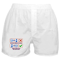 Beer Before Liquor Boxer Shorts