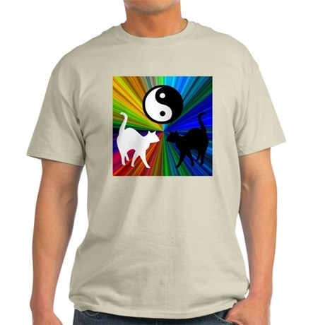 YIN YANG RAINBOW CATS Light T-Shirt