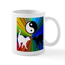 YIN YANG RAINBOW CATS Mug