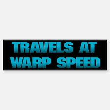 Warp Speed Bumper Bumper Bumper Sticker