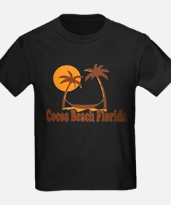 Cocoa Beach - Palm Trees Design. T-Shirt