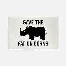 Save The Fat Unicorns Rectangle Magnet