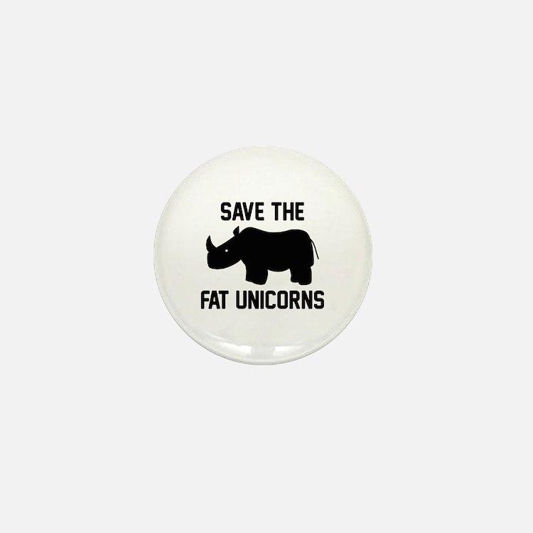 Save The Fat Unicorns Mini Button