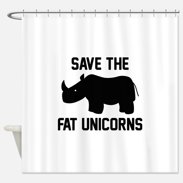 Funny rhinoceros shower curtains funny rhinoceros fabric for Shower curtain savers