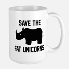 Save The Fat Unicorns Large Mug