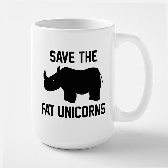 Save The Fat Unicorns Large Mug