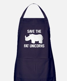 Save The Fat Unicorns Apron (dark)