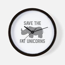 Save The Fat Unicorns Wall Clock