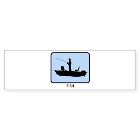 Fish (BLUE) Bumper Sticker