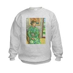 Green Kimono Sweatshirt