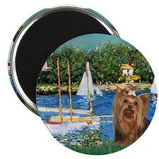 Sailboats & Yorkie #7 Magnet