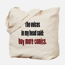 Buy more comic books voices Tote Bag