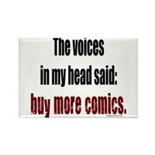 Buy more comic books voices Rectangle Magnet