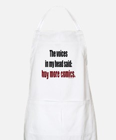 Buy more comic books voices BBQ Apron