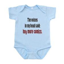 Buy more comic books voices Infant Bodysuit