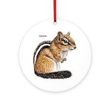 Ground Squirrel Chipmunk Keepsake (Round)