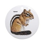 Ground Squirrel Chipmunk Keepsake (Round)