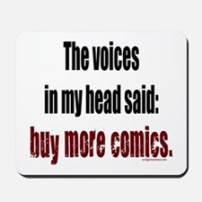 Buy more comic books voices Mousepad
