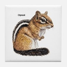 Ground Squirrel Chipmunk Tile Coaster