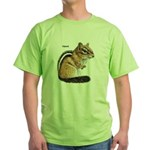Ground Squirrel Chipmunk Green T-Shirt