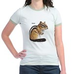 Ground Squirrel Chipmunk Jr. Ringer T-Shirt