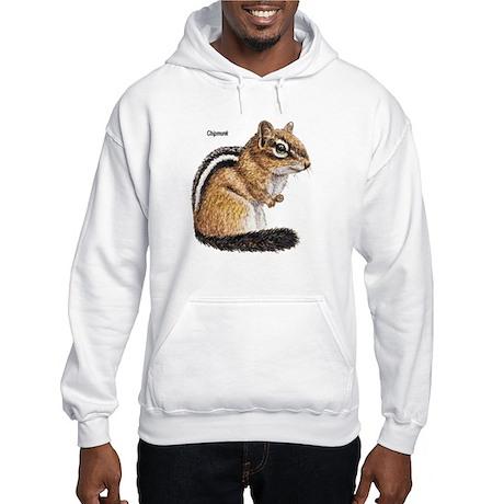 Ground Squirrel Chipmunk (Front) Hooded Sweatshirt