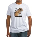 Ground Squirrel Chipmunk (Front) Fitted T-Shirt