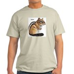 Ground Squirrel Chipmunk (Front) Ash Grey T-Shirt