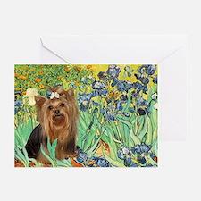 Irises & Yorkie #7 Greeting Cards (Pk of 10)