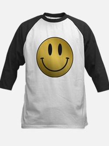 GOLD Smiley black outline Baseball Jersey