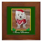 Christmas Dog Framed Tile
