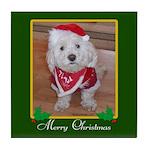 Christmas Dog Tile Coaster