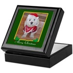 Christmas Dog Keepsake Box