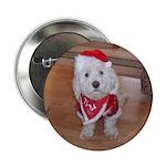 Christmas Dog Button