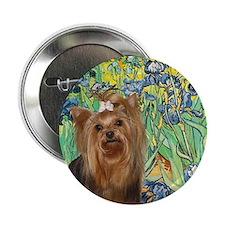 Irises & Yorkie #7 Button