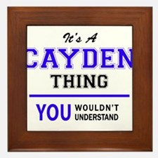 It's CAYDEN thing, you wouldn't unders Framed Tile