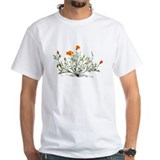 Flowers Mens White T-shirts