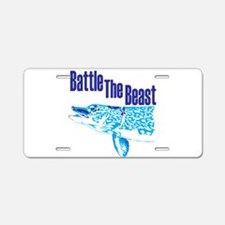 Battle the beast. Aluminum License Plate