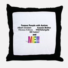 Famous people with autism Throw Pillow