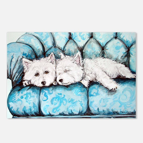 Westie Couch Potatoes Postcards (Package of 8)
