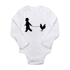 Baby and Chicken black Body Suit