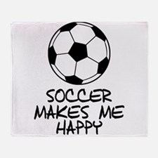 Soccer Makes Me Happy Throw Blanket