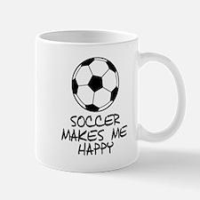 Soccer Makes Me Happy Mugs