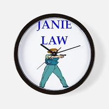 police woman Wall Clock
